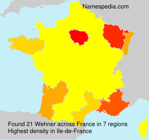 Surname Wehner in France