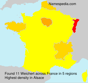 Surname Weichert in France