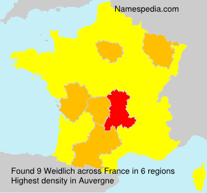 Surname Weidlich in France