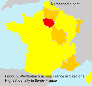 Surname Weiffenbach in France