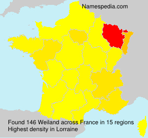 Surname Weiland in France