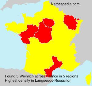 Surname Weinrich in France