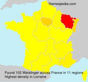 Familiennamen Weislinger - France