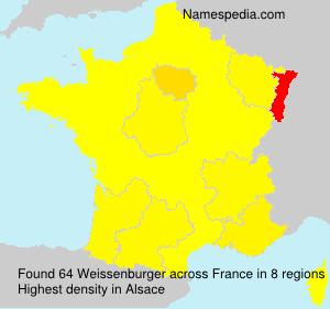 Familiennamen Weissenburger - France