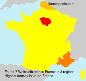 Familiennamen Weissleib - France