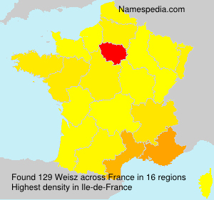Surname Weisz in France