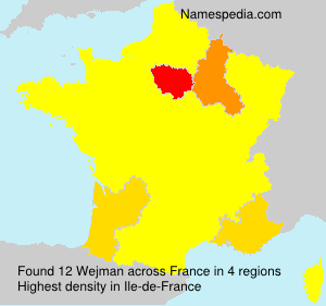 Surname Wejman in France