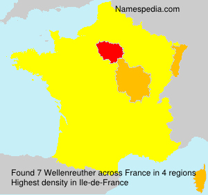 Surname Wellenreuther in France