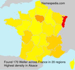 Surname Weller in France