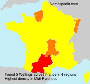 Familiennamen Wellings - France