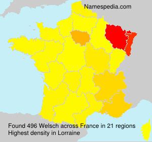 Familiennamen Welsch - France