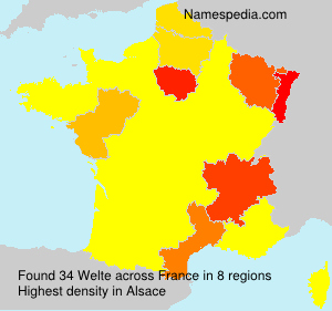 Surname Welte in France