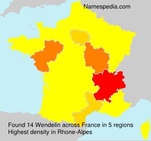Surname Wendelin in France