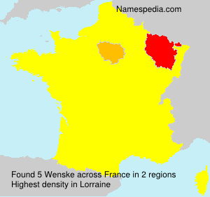 Surname Wenske in France