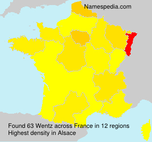 Surname Wentz in France
