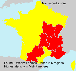 Surname Wenzek in France