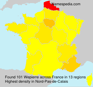 Surname Wepierre in France