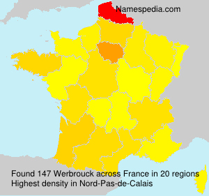 Surname Werbrouck in France