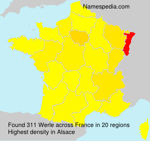 Surname Werle in France