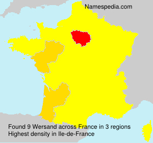 Surname Wersand in France