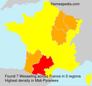Surname Wesseling in France