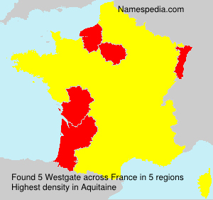 Surname Westgate in France