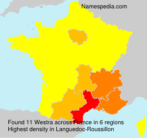 Surname Westra in France