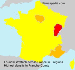 Familiennamen Wettach - France