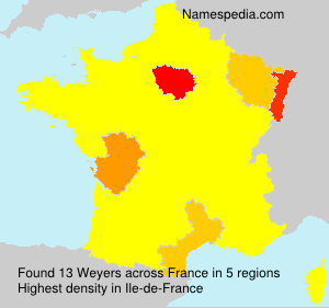 Surname Weyers in France