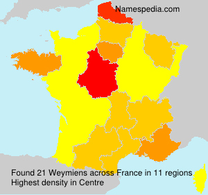 Surname Weymiens in France