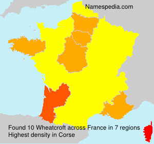 Surname Wheatcroft in France