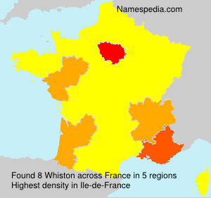 Surname Whiston in France