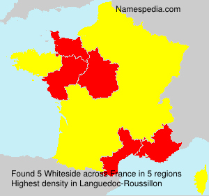 Surname Whiteside in France