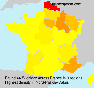 Surname Wichlacz in France
