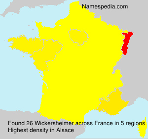 Surname Wickersheimer in France