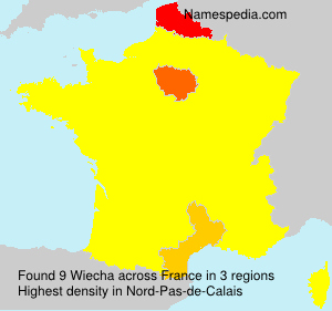 Surname Wiecha in France