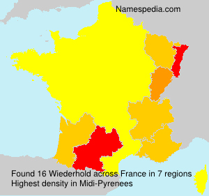 Surname Wiederhold in France