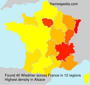 Surname Wiedmer in France