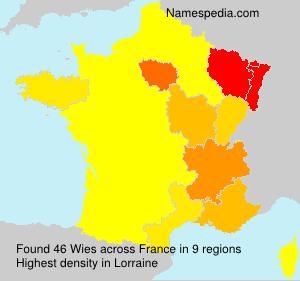 Familiennamen Wies - France