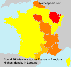 Familiennamen Wiewiora - France