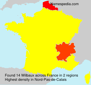 Surname Wilbaux in France
