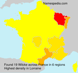Surname Wilcke in France