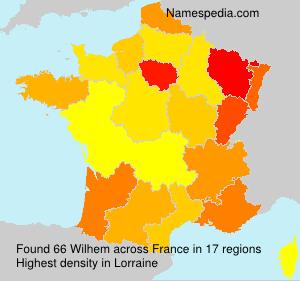 Familiennamen Wilhem - France
