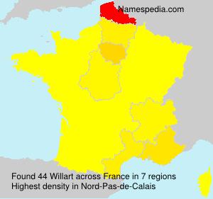 Surname Willart in France