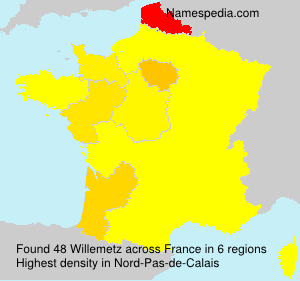 Surname Willemetz in France