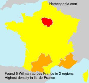 Familiennamen Wilman - France