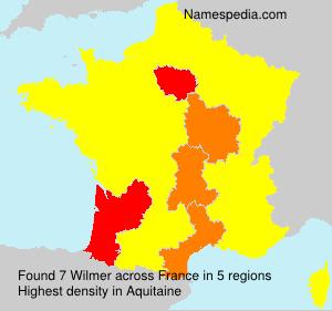 Familiennamen Wilmer - France