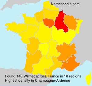 Surname Wilmet in France