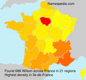 Surname Wilson in France