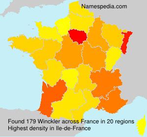 Familiennamen Winckler - France